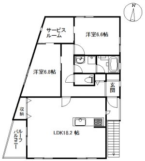アパート パウロニア7  201(契約済)