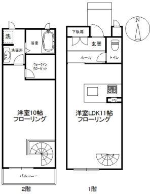 【アパート】パウロニア66 103 ( 契約済)