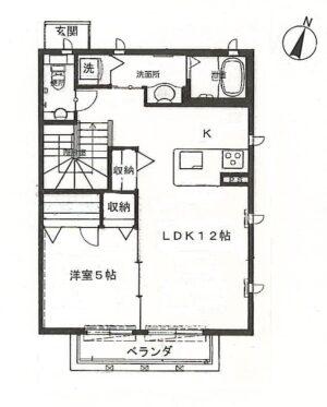 【アパート】パウロニア66 202(契約済み)